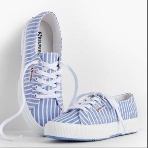 Superga sneakers light blue & white stripe